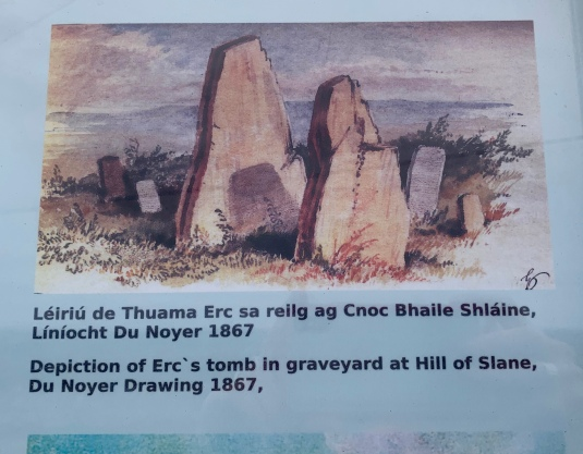 Photo of the sign at the Hill of Slane